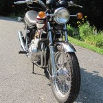 Triumph Trident T160 - 1975 - Front Forks, Font Wheel, Headlight and Indicators.