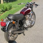 Triumph Trident T160 - 1975 - Grab Rail, Rear Flashers, Seat , Fender and Rear Light.