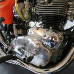 Triumph X-75 Hurricane - 1973 - Gear Lever, Motor and Transmission, Footrest and Timing Cover.