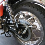 Triumph X-75 Hurricane - 1973 - Rear Shock Absorber, Chain and Sprocket, Rear Brake and Swing Arm.