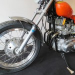 Triumph X-75 Hurricane - 1973 - Front Forks, Front Fender, Front Wheel and Frame.
