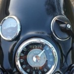 Velocette Venom - 1961 - Gauges, Speedo, Headlight Switch and Ignition.