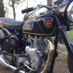 Velocette Venom - 1961 - Side Panel, Exhaust Down Pipe, Timing Chain Cover, Front Forks and Frame.