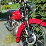 Vincent Rapide - 1951 - Front Forks and Front Wheel.