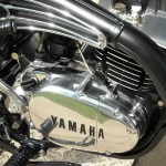 Yamaha 360 RT3 - 1973 - Engine and Gearbox, Exhaust Pipe and Heat Shield.