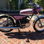 Yamaha CS5E - 1972 - Right Side View, Engine and Gearbox, Seat Cover, Mudguards, Kick Start, Electric Start, Wheels and Frame.