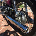 Yamaha CS5E - 1972 - Chain and Sprocket, Exhaust Pipe, Chain Guard and Foot Rest.