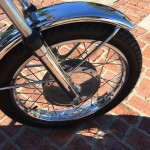 Yamaha CS5E - 1972 - Front Wheel Hub, Font Fender and Forks.