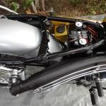 Yamaha CT1 175 Enduro - 1971 - Exhaust and Heat Shield and Frame.