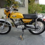 Yamaha CT1 175 Enduro - 1971 - Left Side View, Motor and Transmission, Gas Tank and Seat.