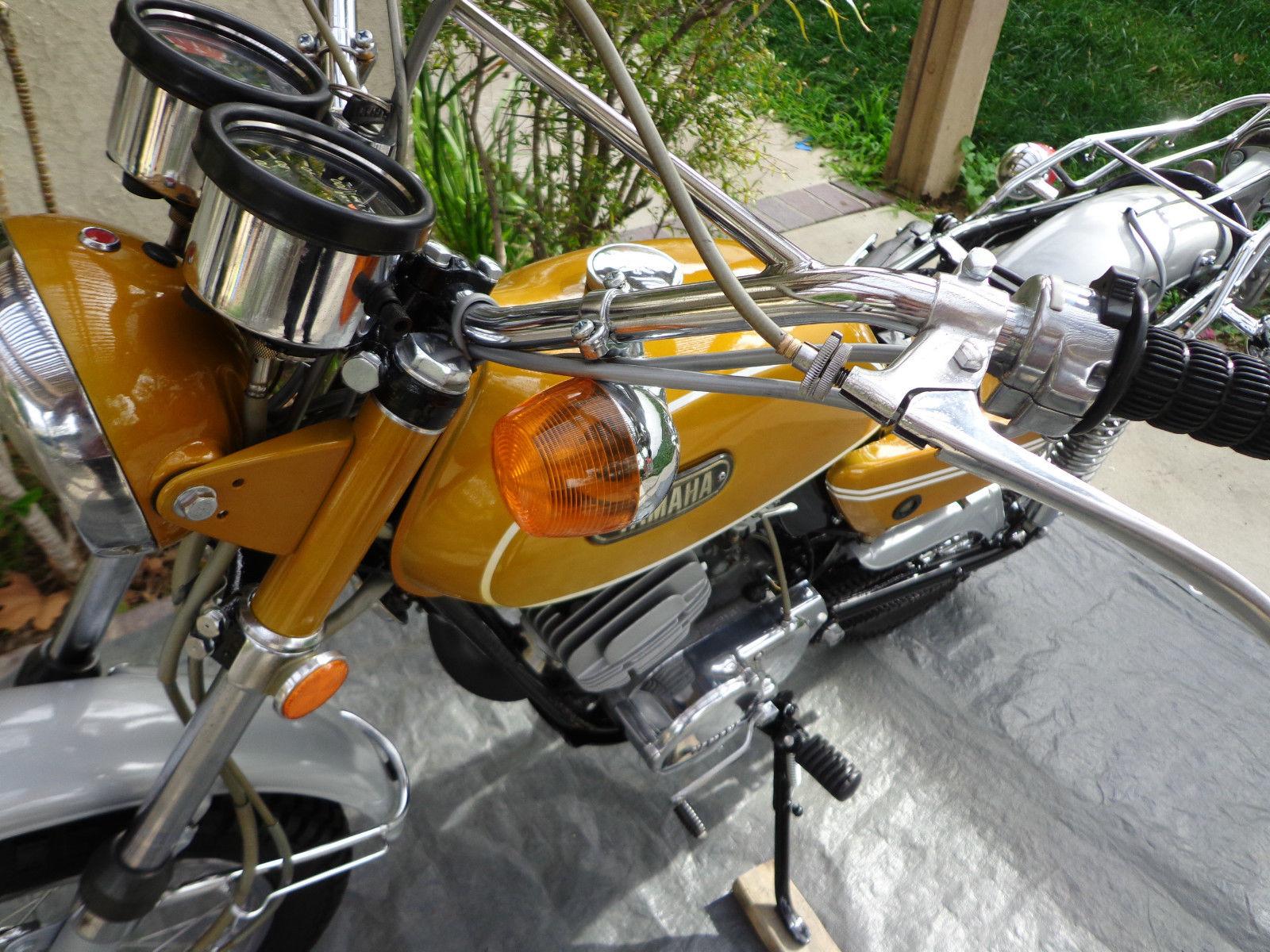 Yamaha CT1 175 Enduro - 1971 - Front Indicator/Flasher, Brake Lever and Headlight Ear.