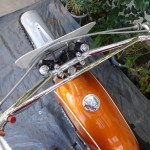 Yamaha DT1 - 1971 - Gas Tank, Gas Cap, Handlebars and Kill Switch.