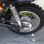 Yamaha DT1 - 1971 - Rear Wheel, Rear Shock Absorber, Chain and Sprocket.
