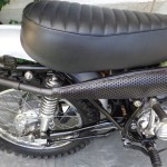 Yamaha DT1 - 1971 - Seat, Muffler, Rear Shock and Swing Arm.