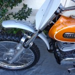 Yamaha DT1 - 1971 - Front Mudguard, Front Wheel and Number Plate.
