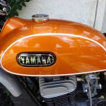 Yamaha DT1 - 1971 - Petrol Tank and Yamaha Tank Badge.