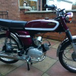 Yamaha FS1E - 1975 - Popsicle Purple, Fizzy, Engine and Gearbox.