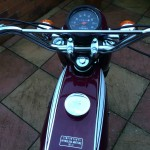 Yamaha FS1E - 1975 - Popsicle Purple, Fizzy, Fuel Tank, Fuel Cap, Handlebars and Speedo.