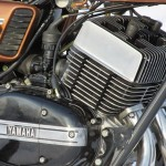 Yamaha RD250 - 1974 - Motor and Transmission, Exhaust, Cylinder head and Barrels.