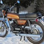 Yamaha RD250 - 1974 - Seat, Petrol Tank and Exhausts.
