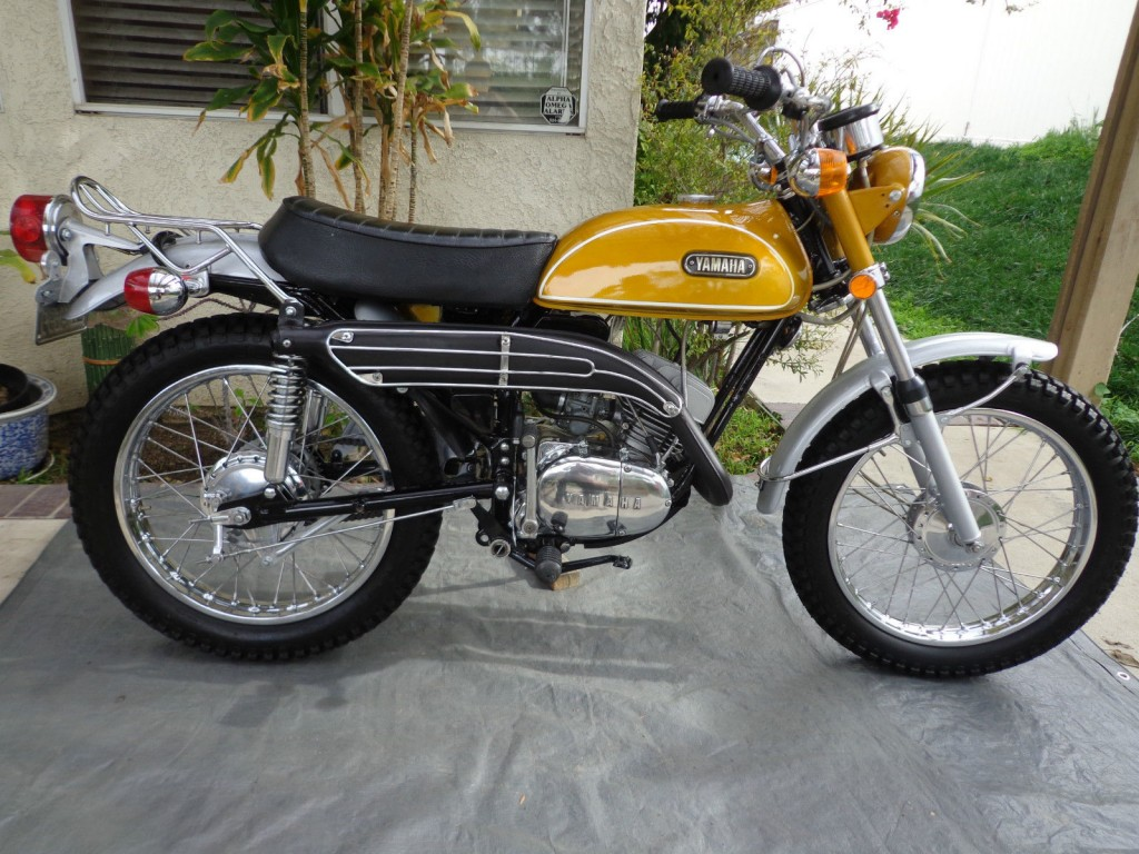 restored yamaha ct1 175 enduro 1971 photographs at classic bikes restored bikes restored. Black Bedroom Furniture Sets. Home Design Ideas
