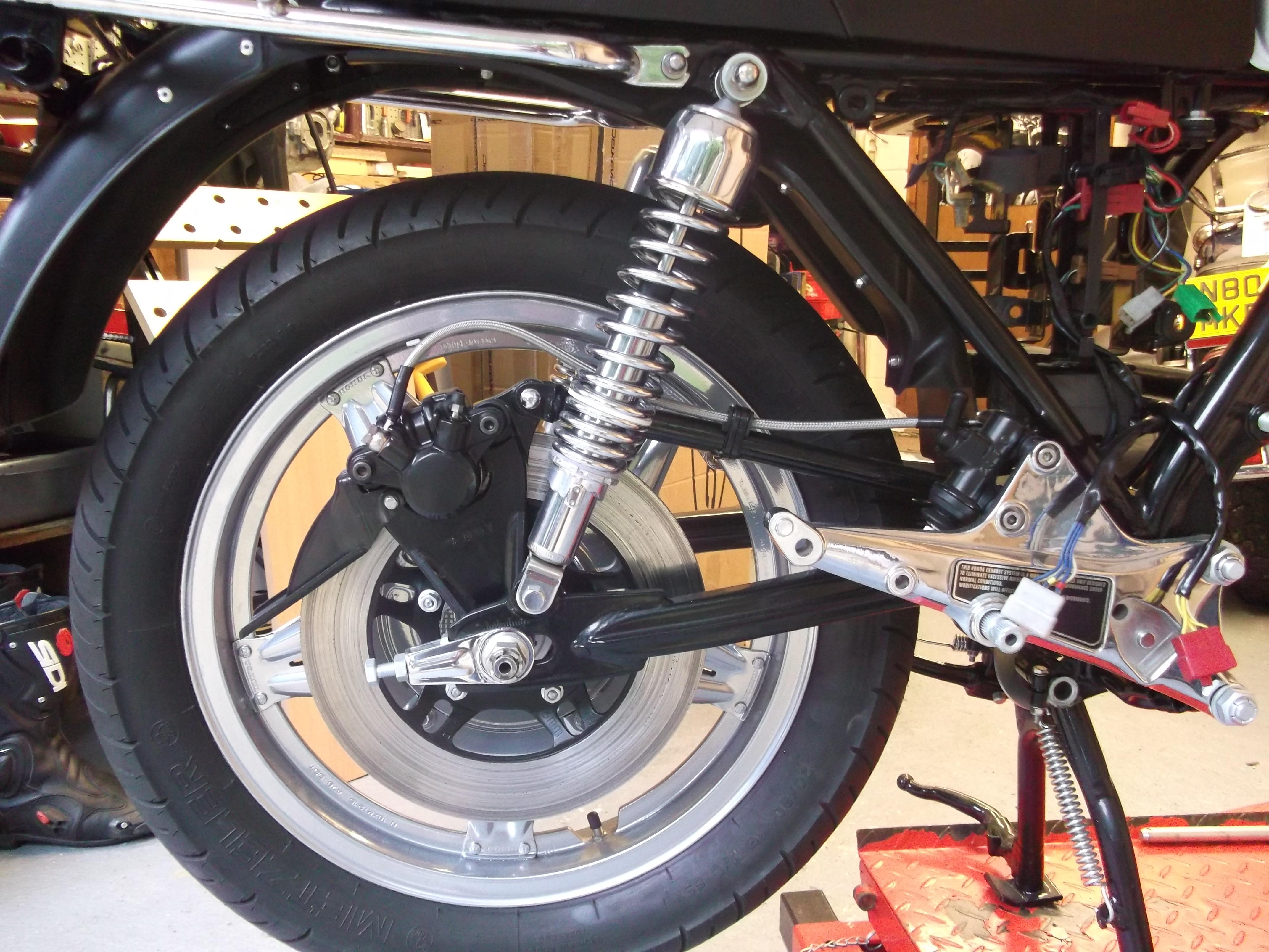 Honda CBX1000 - 1978 - Rear Brake, Chain Adjuster and Footrest Bracket.