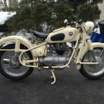 BMW R27 - 1965 - Right Side View, Fenders, Brakes, Seat Spring, Gearbox and Shaft Drive.