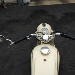 BMW R27 - 1965 - Gas Cap. Fuel Tank, Handlebars and Grips.