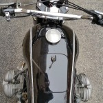BMW R69S - 1963 - Gas Tank, Handlebars, Boxer Engine, Gas Cap and Leads.
