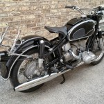 BMW R69S - 1963 - Rack, Rear Mudguard, Exhausts and Rear light.