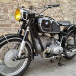 BMW R69S - 1963 - Front Hub, Wheel, Forks, Shocks and Fender.