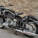 BMW R69S - 1963 - Seat, Fender, Wheel, Spokes and Hub.