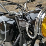 BMW R69S - 1963 - Headlight, Fuel Tank and Forks.