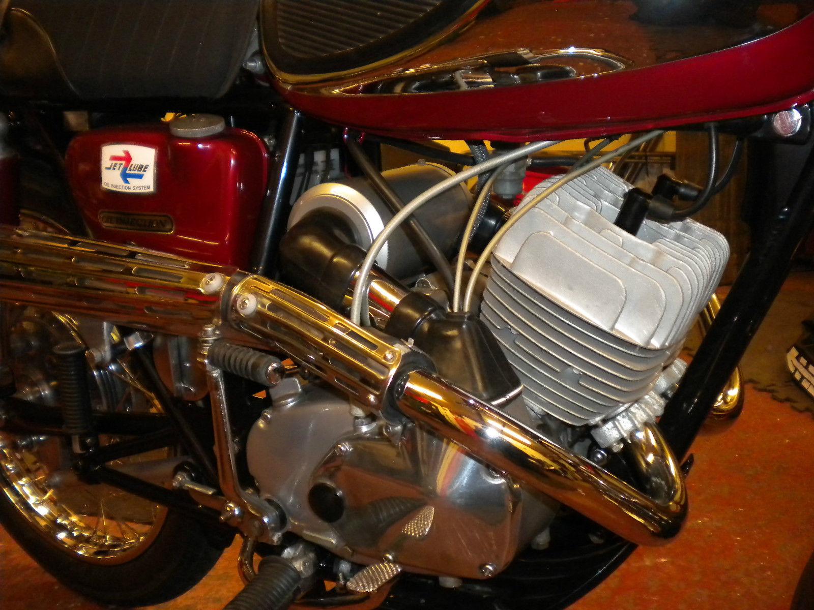 Bridgestone Mach11 -1969 - Air Filter, Muffler, Kick Start and Engine Case.