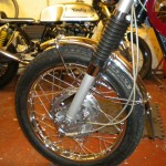 Bridgestone Mach11 -1969 - Front Wheel, Front Brake, Speedo Cable, Brake Cable and Spokes.