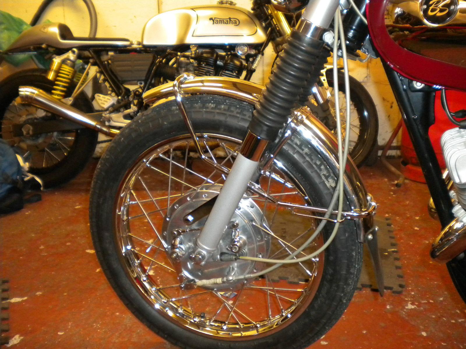Bridgestone Mach11 -1969 - Front Wheel, Front Brake, Speedo Cable, Brake Cable and Spokes.