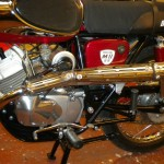 Bridgestone Mach11 -1969 - Sports Exhaust, Muffler, Side Panel and Air Cleaner.