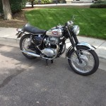 BSA A65 Lightning - 1969 - Chrome Tank, Engine and Gearbox, Headlight and Forks.