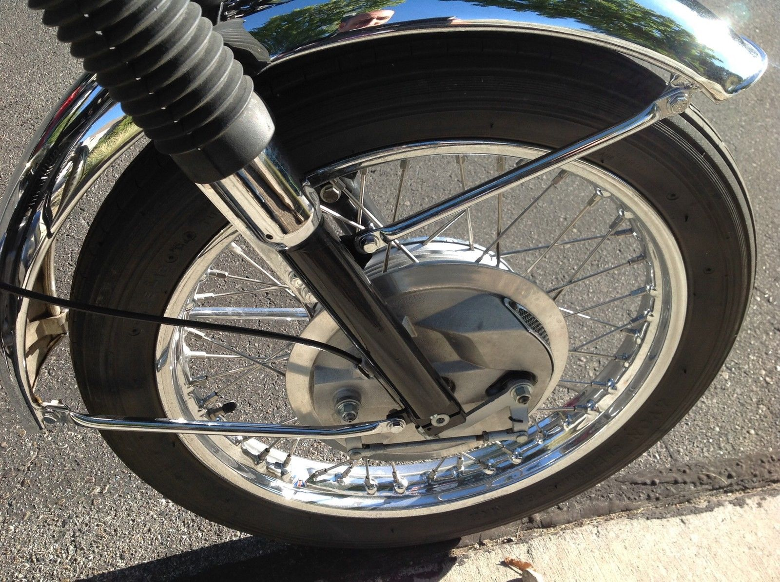 BSA A65 Lightning - 1969 - Front Wheel, Front Forks, Front Fender and Brake Plate.