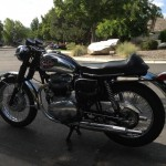 BSA A65 Lightning - 1969 - Handlebars, Forks, Seat Cover, Fenders, Silencers, Shocks, Frame and Forks.