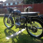 BSA Bantam D14 - 1968 - Chain Guard and Rear Wheel.