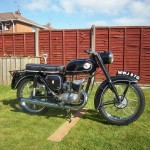 BSA Bantam D14 - 1968 - Engine and Gearbox, Exhaust and Petrol Tank.