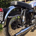BSA Gold Star Replica - 1960 - Rear Fender, Silencer, Swing Arm and Rear Wheel.