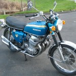 Honda CB750 K0 - 1970 - Right Side View, Motor and Transmission, Front Wheel, Fender and Forks.
