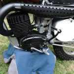 Husqvarna Viking 360 - 1967 - Motor and Transmission, Kick Start, Brake Lever and Exhaust.