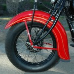 Indian Chief - 1935 - Front Wheel, Fender and Suspension.