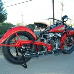 Indian Chief - 1935 - Rear Fender, Seat and Gas Tank.