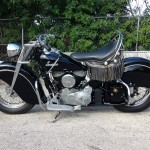 Indian Chief - 1947 - Running Board, Motor and Transmission, Petrol Tank, Seat and Frame.