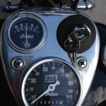 Indian Chief - 1947 - Ammeter, Ignition Switch and Speedometer.