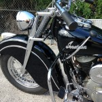 Indian Chief - 1947 - Grips, Handlebars, Gear Change, Fender and Front Suspension.
